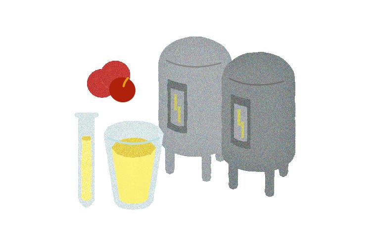 検査(感官確認、實驗室分析、調味桶)